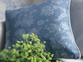 thumbs CTS gros plan tissus indienne bleu Nouvelle collection : Toile de Jouy