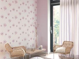 thumbs DVN ambiance fleur rose poudre Nouvelle collection : Papiers peints Divine
