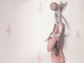 thumbs DCN gros plan souris roses papier peint Nouvelle collection : Chambre de bébé