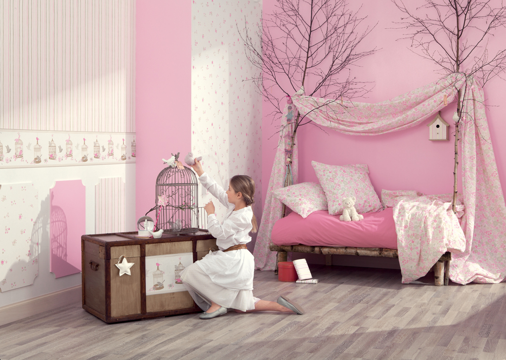 papiers peints girly de la collection girls onlyd coration. Black Bedroom Furniture Sets. Home Design Ideas