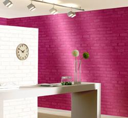 les papiers peints brique pour une d coration murale authentique int rieur et d coration. Black Bedroom Furniture Sets. Home Design Ideas