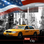 Mur d'images Taxi New Yorkais : référence 501108