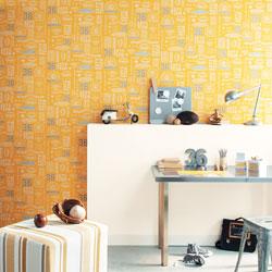 papier peint enfants orange Les stickers et papiers peints qui vont égayer la chambre de votre enfant