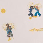 Papier peint de la collection Les Aventures 2011, référence 12101001