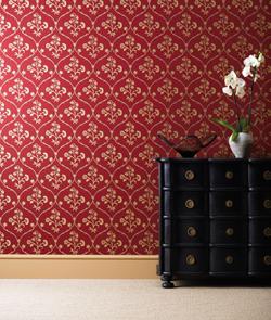 Décoration murale chic rouge