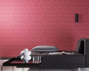 Décoration murale design rouge