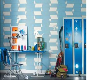 Décoration murale géométrique bleue