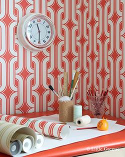 Décoration murale géométrique rouge