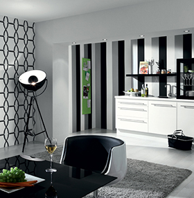 decoration noir et blanche. Black Bedroom Furniture Sets. Home Design Ideas