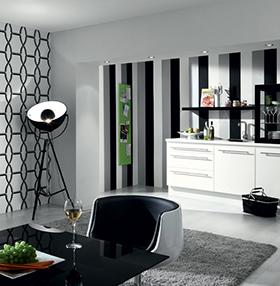 Décoration murale Noir et Blanche