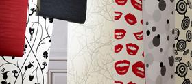 decoration murale papier peint Regard sur la déco : Rencontre avec Aurélie, de Blueberry Home