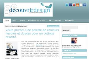 decouvrirdesign Regard sur la déco : Rencontre avec Juliana de Découvrir Design