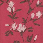 papier peint fleuri rouge rose Nature, charme et soleil : la décoration murale fleurie