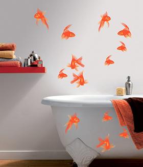 Stickers pour salle de bain