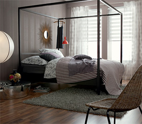 d coration murale de la chambre papier peint r tro ou moderne. Black Bedroom Furniture Sets. Home Design Ideas