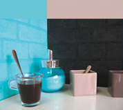 Décoration murale carreaux colorés