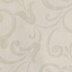 Dessin ornemental écru et étain - papier peint Grandéco