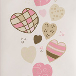 papier peint coeur La rentrée de la décoration murale pour les enfants