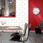 Carreau Metro Rouge - papier peint AS Création