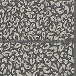 Tacheté cuir noir argenté - papier peint New Skin