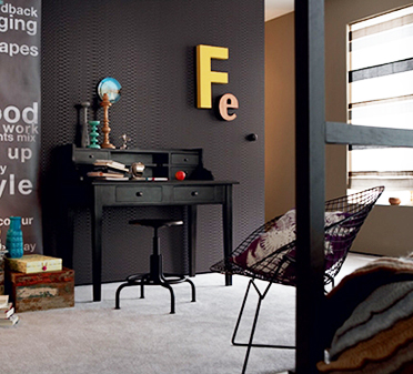 D coration murale et papier peint osez la couleur noir for Papier peint sur porte interieur