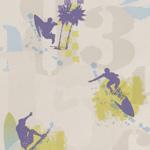 papier peint surf La rentrée de la décoration murale pour les enfants