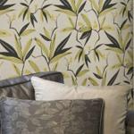 papier peint feuillage exotique Feuillages et petites branches envahissent votre décoration murale