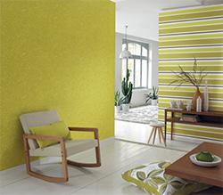 Décoration murale verte