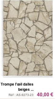 Les papiers peints imitation dalles beiges