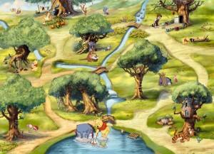 4 453 hundertmorgenwald m 300x217 Nouvelle Collection : Papier peint Disney