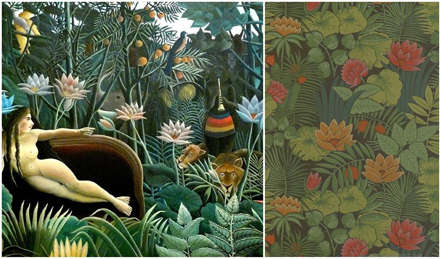 Papier peint Rêverie Jungle par Little Greene