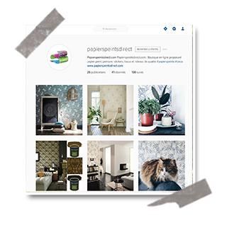 Papierspeintsdirect.com est sur Instagram