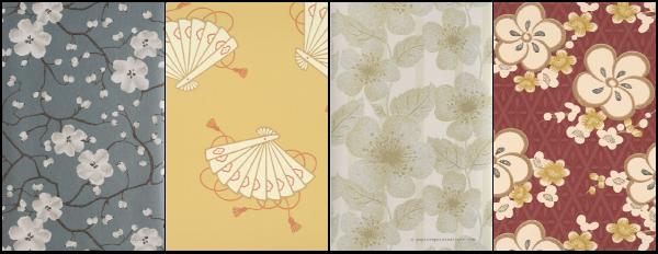 Sélection de papiers peints japonais