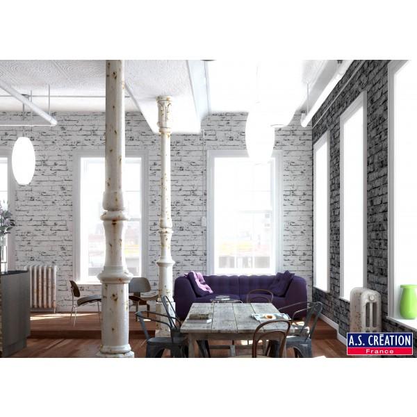 Ambiance loft avec des briques