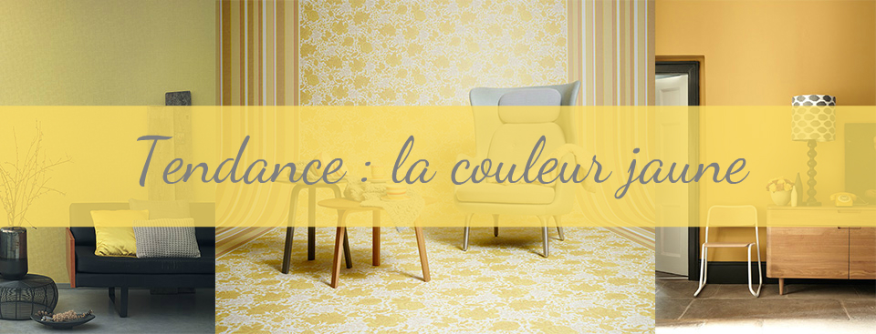 tendance d co la couleur jauned coration murale le blog papiers. Black Bedroom Furniture Sets. Home Design Ideas