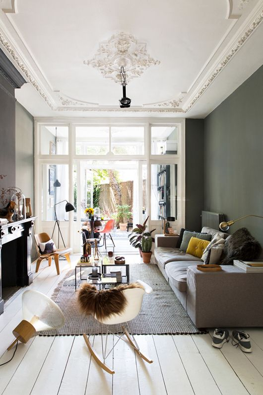 un plafond de couleur par petites touches