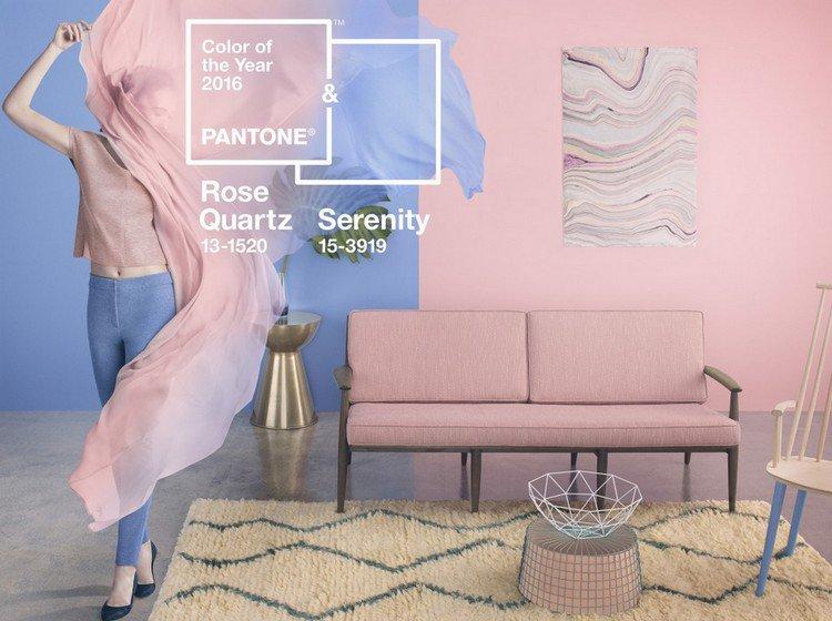 couleurs pantone 2016 rose quartz serenity mode décoration Tendance déco : le rose quartz