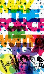 Papiers peints XXL Star-Wars-Pop-Neon-Geometrics-Leia