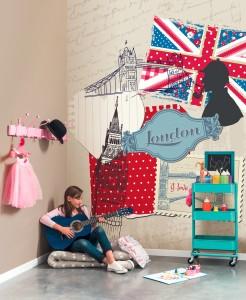 OLA LONDRES PANORAMIQUE 246x300 Nouvelle collection de papiers peints pour enfants : Oh La La