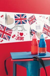 OLA LONDRES ZOOM3 199x300 Nouvelle collection de papiers peints pour enfants : Oh La La
