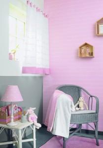 papier peint casadeco enfant ecriture rose1 209x300 Nouvelle Collection de papiers peints : My Little World