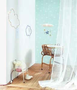 papier peint casadeco enfant nuage3 256x300 Nouvelle Collection de papiers peints : My Little World