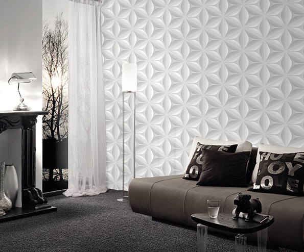 le papier peint 3d la tendance du moment. Black Bedroom Furniture Sets. Home Design Ideas