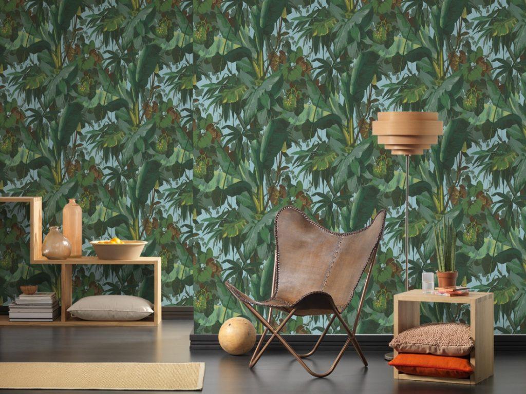 Très beau papier peint Jungle pour une déco Tendance Urban Jungle