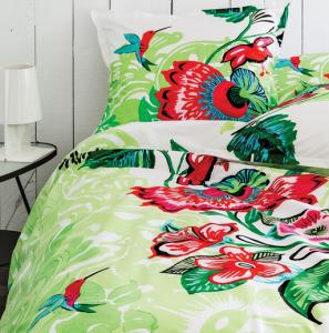 Décoration textile : Parure de lit Jungle Orchidée Colibri