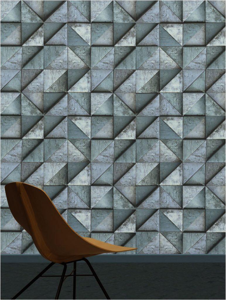 papier peint géométrique de la collection Daniel Hechter