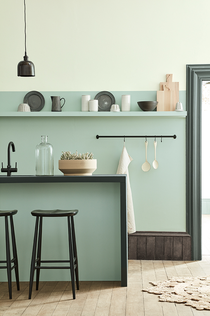 Peintures Little Greene Aquamarine-Pale n°282 et Aquamarine n°138