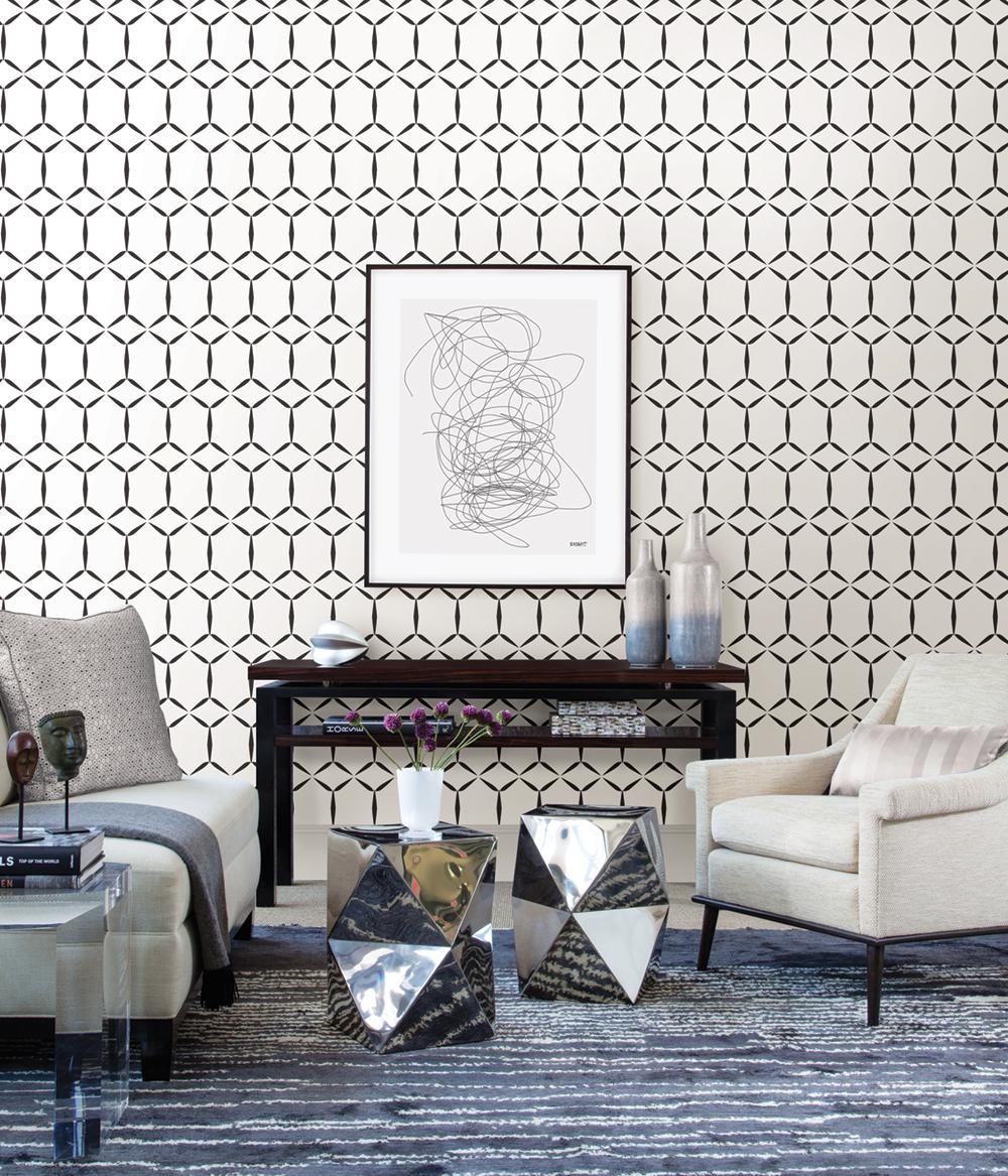 papier peint losanges géométriques