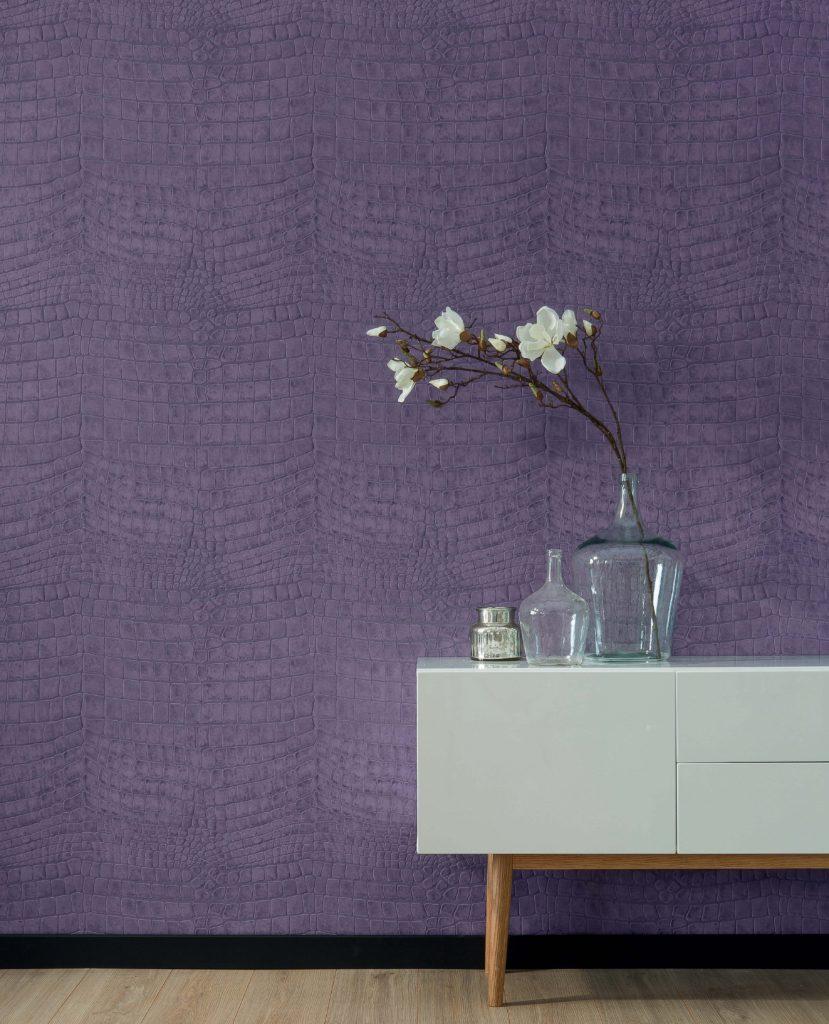 Un papier peint Croco Ultra Violet