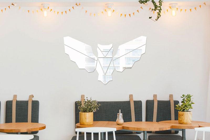 Joli miroir géométrique Hiboux pour votre décoration murale